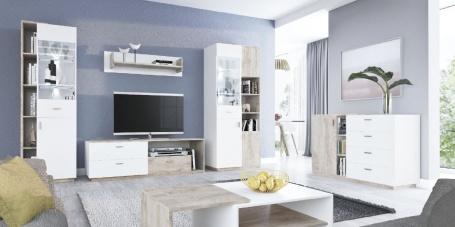 Obývací pokoj Vulcano G - dub/bílá