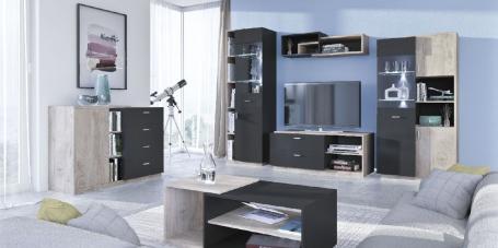 Obývací pokoj Vulcano E - dub/černá