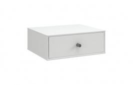 Noční stolek na zeď Lina II - bílý