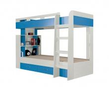 Patrová postel Adéla - jasan/modrá