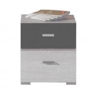Noční stolek Delbert 17 - borovice/tmavě šedá