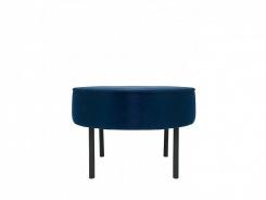 Čalouněný taburet/stolek Lafu H - modrý