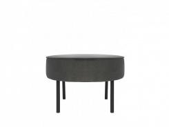 Čalouněný taburet/stolek Lafu H - šedý