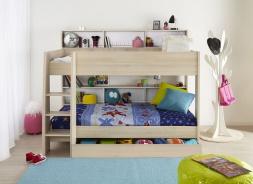 Dětská patrová postel se šuplíkem Charly - akácie