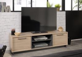 Televizní stolek Celine - dub/šedá