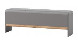 Lavice LIVORNO 65 dub wotan / šedá