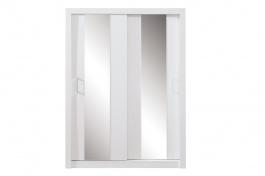Šatní skříň Angelika se zrcadlem III - bílá
