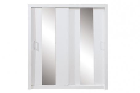 Šatní skříň Angelika se zrcadlem II - bílá