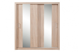 Šatní skříň Angelika se zrcadlem II - dub sonoma