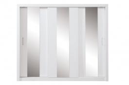 Šatní skříň Angelika se zrcadlem I - bílá