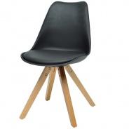 Jídelní židle Fashion - černá/buk