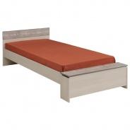Dětská postel Hiphop 90x200cm - popelavá/imitace kamene