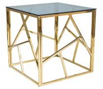 Konferenční stolek ESCADA B zlatý kov/kouřové sklo