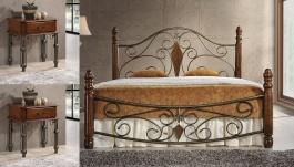 *Postel FRIGG - 180x200 cm + 2 ks noční stolek