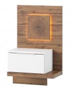 Noční stolek LIVORNO 69 pravý dub wotan / bílá