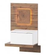 Noční stolek LIVORNO 68 levý dub wotan / bílá