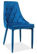 Jídelní čalouněná židle TRIX VELVET modrá