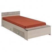 Dětská postel se šuplíky Hiphop 90x200cm - popelavá/imitace kamene