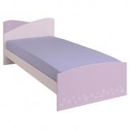 Dětská postel Frozen 90x200cm - světle růžová/fialková