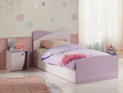 Postel se šuplíkem Frozen 90x200cm - světle růžová/fialková