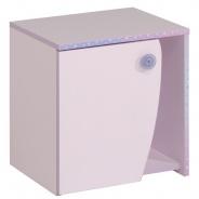 Dětský noční stolek Frozen - světle růžová/fialková