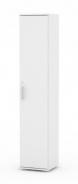 Úzká dvéřová skříňka REA Office 50 + D5 (1ks) - bílá - výběr dvířek