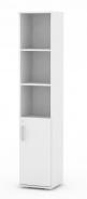 Úzká kombinovaná skříňka REA Office 50 + D2 (1ks) - bílá - výběr dvířek
