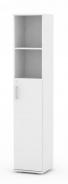 Úzká kombinovaná skříňka REA Office 50 + D3 (1ks) - bílá - výběr dvířek