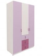 Třídveřová šatní skříň Aurora - výběr odstínů
