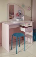 Dětský psací stůl Frozen - světle růžová/fialková