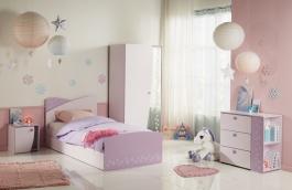 Dětský pokoj Frozen II - světle růžová/fialková