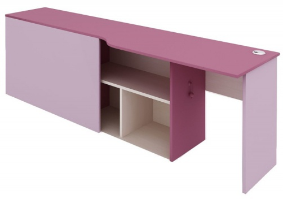 Psací stůl s kontejnerem Aurora, pravý - výběr odstínů