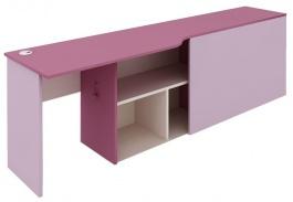 Psací stůl s kontejnerem Aurora, levý - výběr odstínů