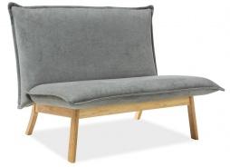 Čalouněné dvojkřeslo - sofa BOLLO 2 šedá