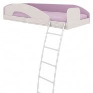 Horní postel se žebříkem Aurora, pravá - světle modrá