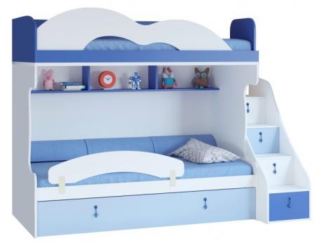 Dětská patrová postel Aurora I 90x200cm, levá