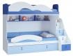 Dětská patrová postel Aurora I 90x200cm, levá - výběr odstínů