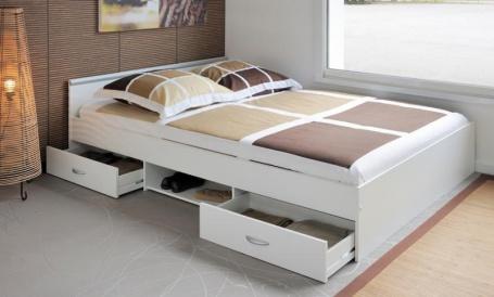 Studenská postel Alpha bílá 140x200cm - v interiéru
