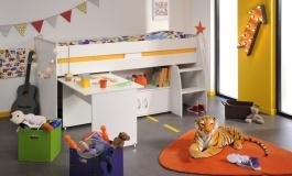 Dětská postel Reverse multifunkční - bílá