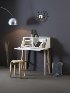 Psací stůl Mademoiselle - buk/bílá