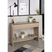 Odkládací stolek Terra - dub/beton