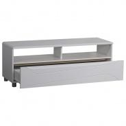 Televizní stolek Glans - bílý lesk