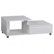 Konferenční stolek Glans - bílý lesk