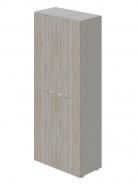 Šatní skříň dvoudvéřová Lorenc I - šedá/driftwood