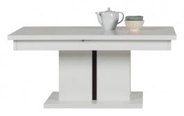 Rozkládací konferenční stolek Irma - bílý / wenge