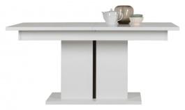 Rozkládací jídelní stůl Irma - bílý / wenge