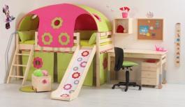 Dětský domeček pod vyvýšenou postel Domino (4 ks)