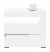 Noční stolek Irma, pravý - bílý