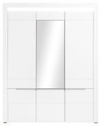 Třídveřová šatní skříň Irma se zrcadlem - bílá