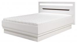 Manželská postel Irma 180x200cm - bílá / wenge